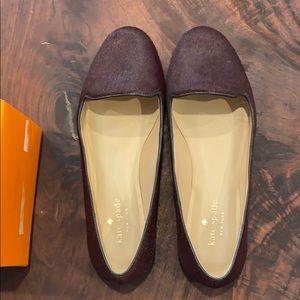 Kate Spade burgundy calf hair loafer, 7.5
